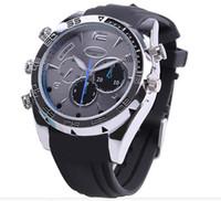 Wholesale 1080P IR Night vision high definition camera watch spy camera watch hidden camera mini dvr