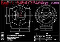 Wholesale M6 type NO20D coal centrifugal fan Drawings Full Machining drawings CAD
