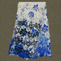 Wholesale hot selling Water soluble Lace Fabric african lace fabric beautiful print guipure lace high quality W10824