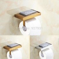 Wholesale Wall Mounted Chrome Brass Antique Toilet Paper Rack Creative Bathroom Tissue Holder Rod