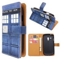 Cheap Police Box Leather Wallet Case Best i8190 Wallet Case