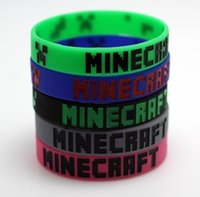 Wholesale Xmas Gift Hot Online Sports Game Computer Game My World Coolie Minecraft Wristband bracelet Silicone Rubber Bracelet Dropshipping