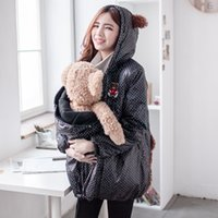 used clothing - Fashion Cute Maternity Coat thicken Warming cotton Maternity clothes for holding babies pregnant Women Winter jackets in use