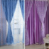 Wholesale Circle Pattern Room Voile Window Curtains Sheer Panel Drapes Scarfs Curtains
