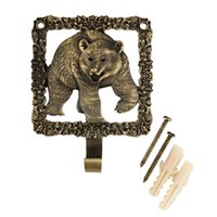 bear towel hook - quot Bear quot Vintage decoration creative coat hooks metal hook wall the iron hook home storage hanger towel holder Bathroom
