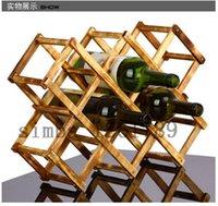 alcohol bottle holder - Folding wood wine rack alcohol neer care drink bottle holders solid wood shelf Special new cabinet European creative gift series