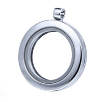 Wholesale Hot Sale Silver Glass Floating Charm Locket Silver Chain Diy Alloy Glass Locket Jewelry