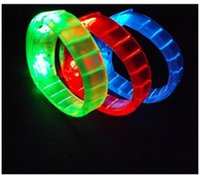 Wholesale Colorful Flashing Bracelet Wristband Bangle LED Light Up Toys Assorted Colors Party Rave Glow in the Dark