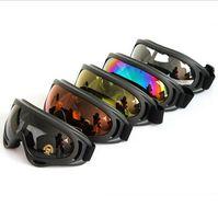 ski goggles glasses - 2015 New Outdoor Windproof Glasses Ski Goggles Dustproof Snow Glasses Men Motocross Riot Control Downhill