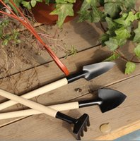 garden shovel - 1Set Mini Garden Tools Small Shovel Rake Spade Wood Handle Metal Head Kids Tool