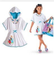 Wholesale 2015 NEW girl Pajamas Princess Children Kids Cotton Sleepwear Nightclothes Summer Cartoon White Homewear Night Skirts