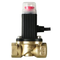 Wholesale DN15 Solenoid valve Gas shut off valve DN15 brass alloy solenoid valve CO shut off valve work with gas detector