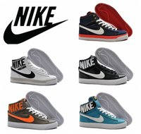 top brand - nike blazer high top skate shoes new arrival Nike canvas leisure shoes brand casual shoes size