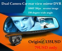 Cheap G20 4.3'' 1080P Blue mirror Car rear view mirror DVR Camera Dual Camera Car DVR Camcorder reversing camera GPS logger option