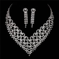 african imports - Imported From China Luxury With Earrings High Quality Necklace Wedding Party For Bride Sterling Silver Jewelry Set