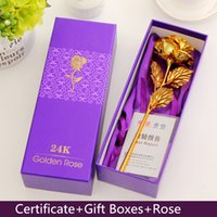 best of friends - 24K Gold foil Rose Flower Creative new Year Valentine s Day birthday Propose Wedding Crafts artificial flower Give Friend Best Gift Color