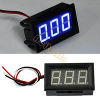 Wholesale New DC V Blue Led Voltmeter Panel Meter Digital Voltmeter Volt Voltage Meter Z