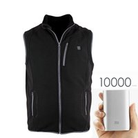 bank vest - New Arrival Winter Electric Heating Vest V A Polar Fleece Varme Veste Femme Hommes A USB Fleece Vest without Power Bank