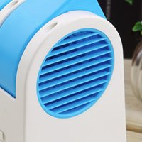 air conditioner ceiling - Mini Small Fan Cooling Portable Desktop Dual Bladeless Air Conditioner USB