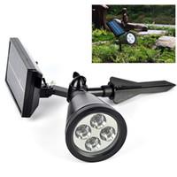 Wholesale 2015 New LED Solar Lawn Solar Garden Lamp Spot Light Outdoor Lawn Landscape Spotlight