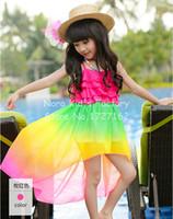 bohemian clothes - Hot Summer Baby Girl Dress Children Party Dresses Vestidos Kids Clothes Bohemian Chiffon Sexy Beach Dress Rainbow Color
