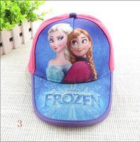 baseball fever - Children cartoon Frozen fever Elsa and Anna Girls Cute Printed Cap Fashion Casual Canvas Hats Baseball Cap