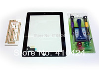 Wholesale BLACK REPLACEMENT FOR APPLE iPAD LCD GLASS TOUCH SCREEN DIGITIZER REPAIR TOOLS order lt no track
