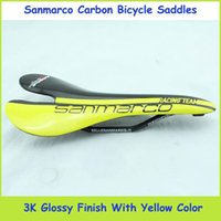 Wholesale San marco New Arrival Road Bike Saddles White Red Yellow And Green Full Carbon Bike Cushions Bike Parts K Glossy Finish For Choice
