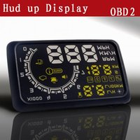 Wholesale New Inch LED Car OBD II HUD Head Up Display System Speedometer with Speed KM Mile RPM MPH SCYF0533