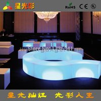 Wholesale GF203 plastic LED light bar furniture outdoor leisure benches American furniture Dongguan furniture Taobao explosion models