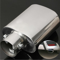 Wholesale New Universal Chrome Exhaust Tail Trim Tip Pipe Muffler Stainless steel Replacement order lt no track