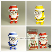audio kid - Santa Claus Cute kids speakers Minions Mini USB Portable DESPICABLE ME Speakers support MP3 MIC TF Card USB Disk for Christmas Gift