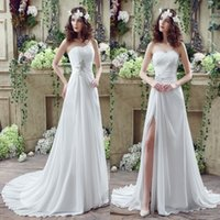 Real Photos Sweetheart Tulle Real Image 2016 New Cheap Wedding Dresses A Line Sheath Lace-up Back with Beaded Crystals Long Chiffon Summer Beach Bohemian Bridal Gowns