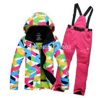 Brand Womens Winter Skiing Jackets waterproof snowboard jackets Colorful Top Quality ski suits and ski pants