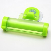 Wholesale Creative Rolling Squeezer Toothpaste Dispenser Tube Partner Sucker Hanging Holder Color Random ZH155