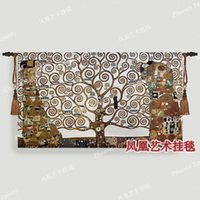 Wholesale Europe Master painting series Klimt Tree of Life Art tapestry fashion living room bedroom corridors wall hangings fabric soft