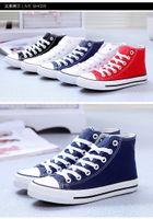 Cheap Lace-Up Shoes Best Men White, red, black, dark blue canvas shoes