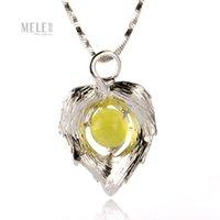 australian gemstone - Australian grape natural stone pendant sterling silver jewelry female models clavicle simple chain