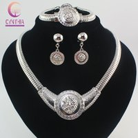 costume jewelry - Vogue Medusa Necklace K Chunky Gold Plated Rhinestone Costume Jewelry Sets Lion Head Jewelry For Women Colors