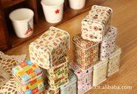 food storage tins - Most Popular Christmas Series Mini Iron Box Cute Tea Amazing Tin Box Metal Storage Box Storage Box food cans canisters HOT SALE