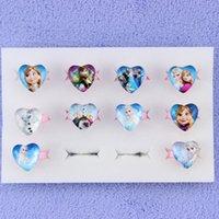 heart model - Frozen glass heart shaped ring spot children explosion models jewelry price