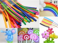 animal balloon twisting - 100pcs Mixed Color Magic Long Animal Tying Balloons Twist Latex Balloons