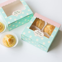 bakery box window - Muffin Cupcake Cardboard Paper Box With Window Mooncake Gift Cake Packaging cm Bakery Packaging Paper Box