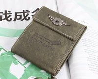 air force coins - New Fashion Air Force Design Army Tactical Men Canvas Wallet for Man Coin Purse Retro Short Wallets