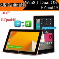 Wholesale Dual Boot Win8 Android quot HD IPS EZpad s Tablet Quad Core Inter Z3735F bit GB RAM GB ROM Laptop Tablets OTG External G DHL