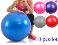 Wholesale Burst proof pvc Yoga gym ball cm China Factory inches odorless fitness ball with colors