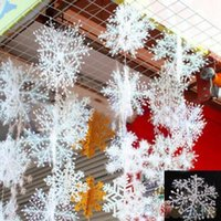 Wholesale 30 White Snowflake Ornaments Christmas Holiday Festival Party Home Decor