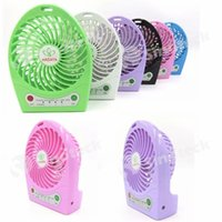 Wholesale Portable Mini Fan Fans USB with LED Lamp Battery Handheld Blower Summer Rechargeable Cooler for Indoor Outdoor Kids Free DHL Factory