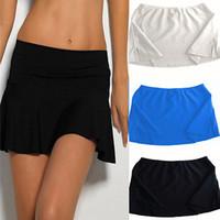 beach skort - women faldas y shorts hot summer Beach culottes Blue Print Flower female Short Pantskirt Mini Skort feminino Shorts