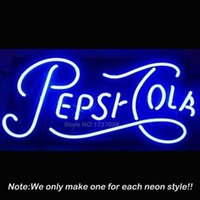 art cola - High Quality Pepsii Cola Neon Sign Bright Neon Bulbs Custom Art Design Great Gifts Real Glass Tube Handcraft Beer Bar Pub x14